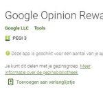 Leuk! Google Opinion Rewards